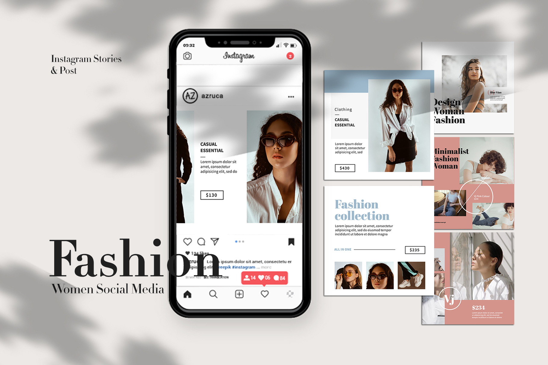 Fashion Instagram Templates example image 1