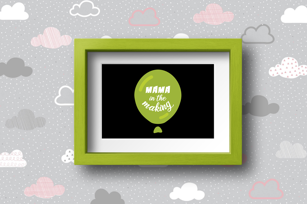 Pregnancy Announcement SVG Cut Files - Mama in the making example image 2