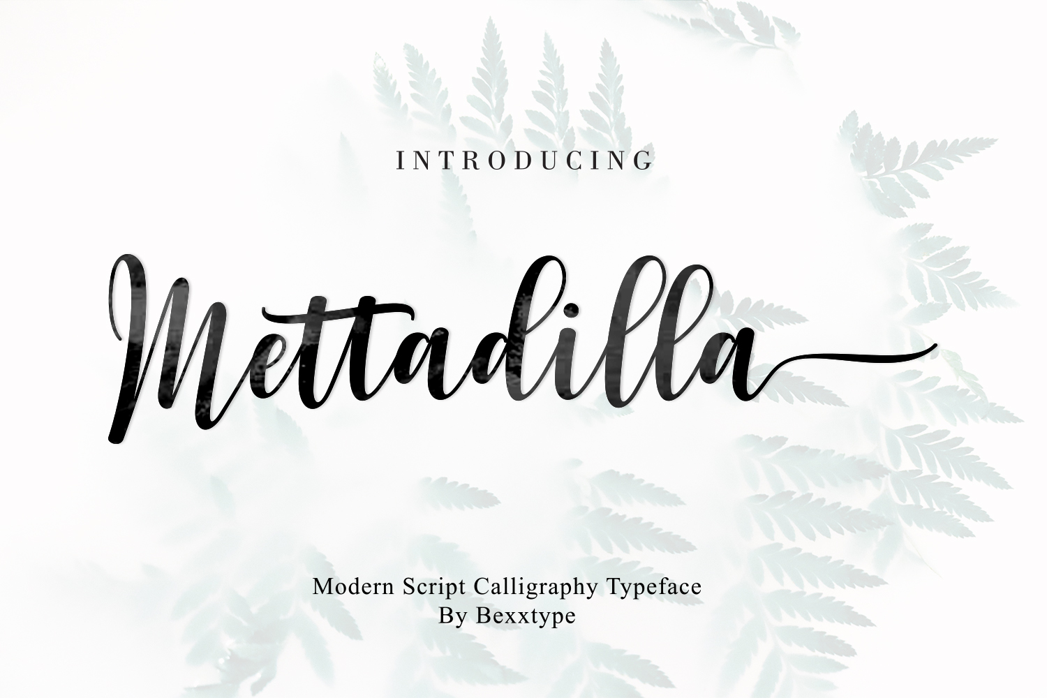 Mettadilla Script||Winter Collection example image 1