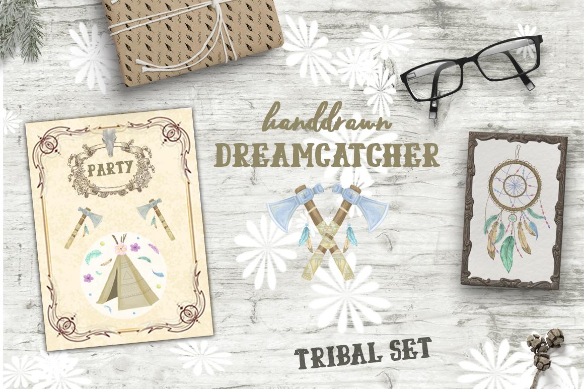 Dreamcatcher. Tribal Set example image 9