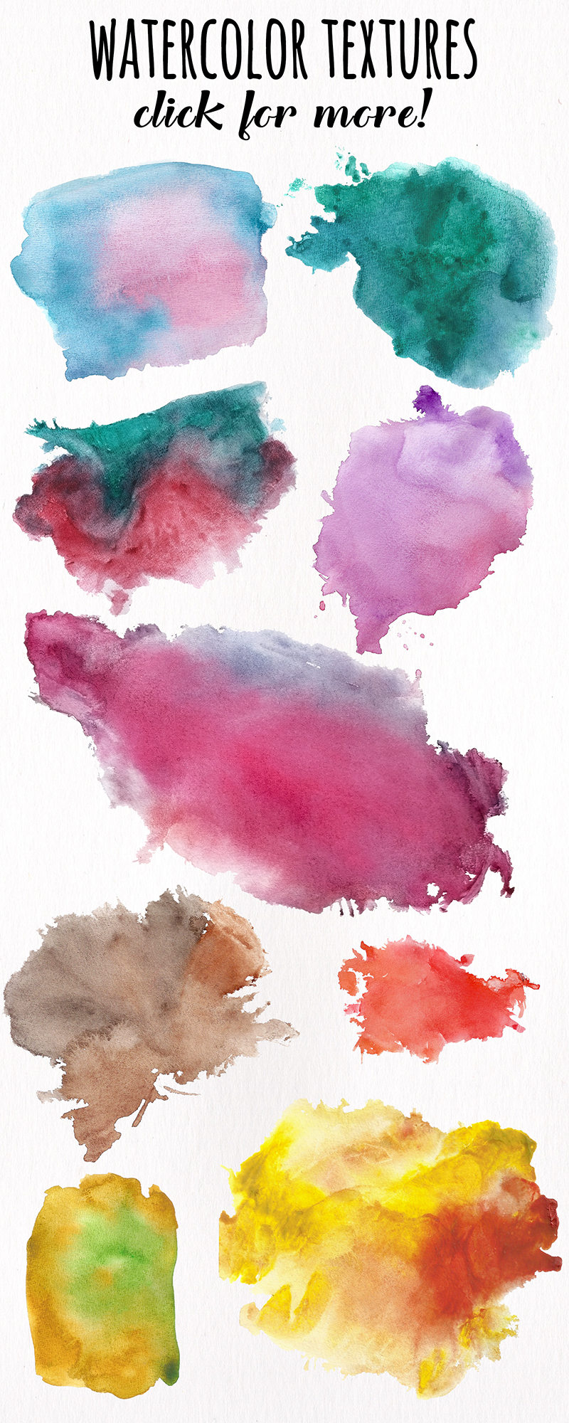 Watercolor Textures - card edition example image 14
