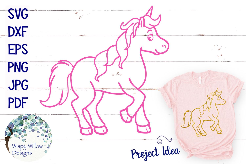 Unicorn SVG Cut File example image 1