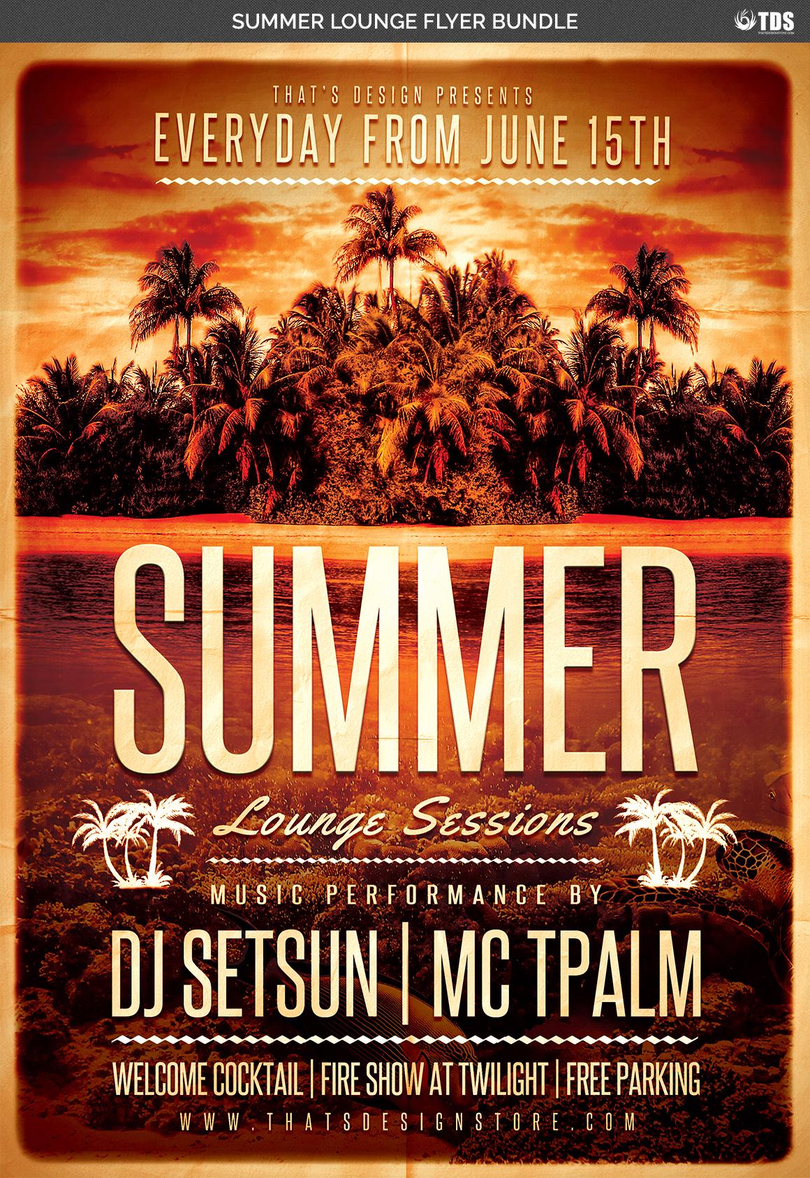 Summer Lounge Flyer Bundle example image 5