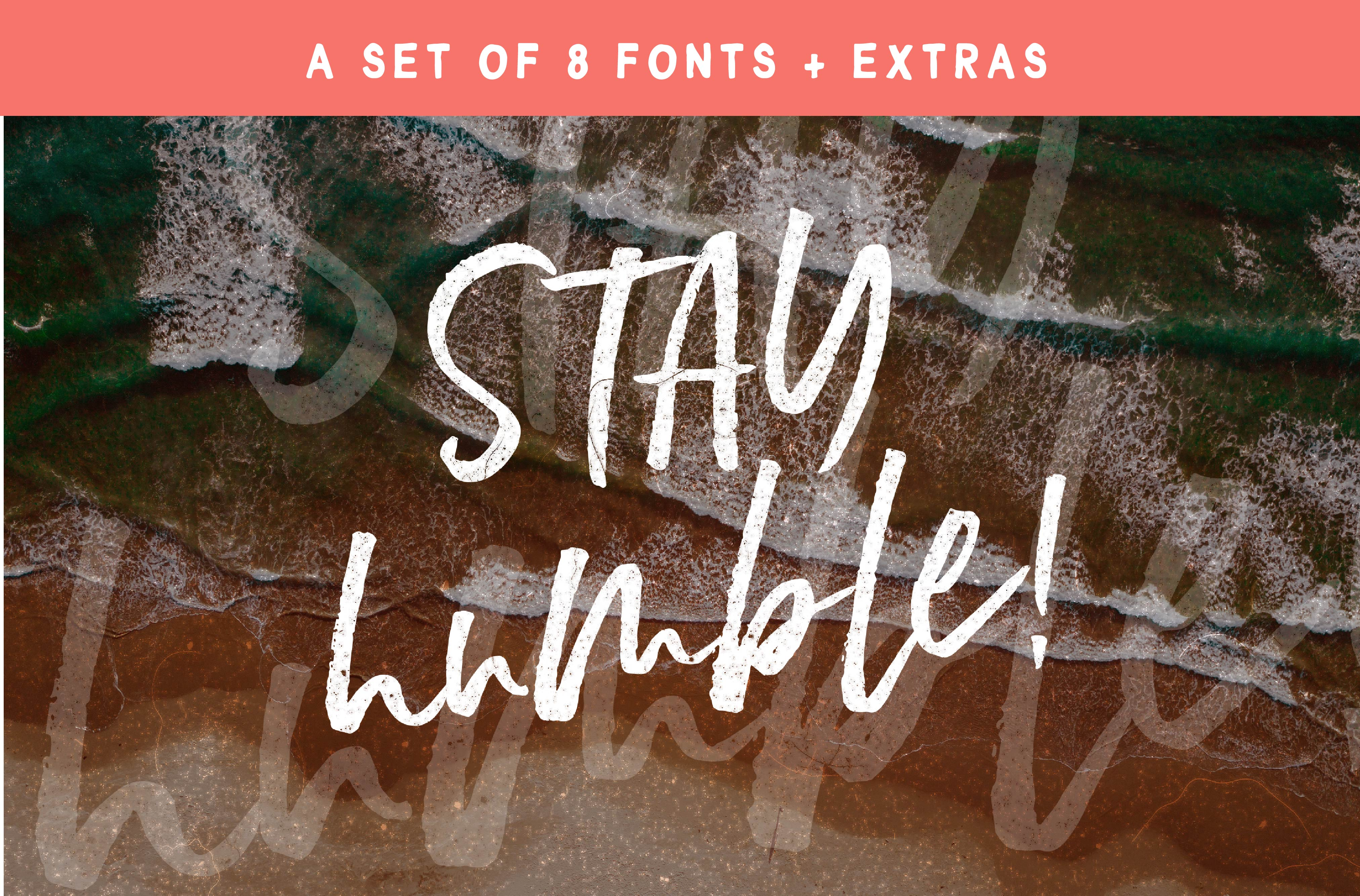 Stay Humble Font Family + Extras example image 1