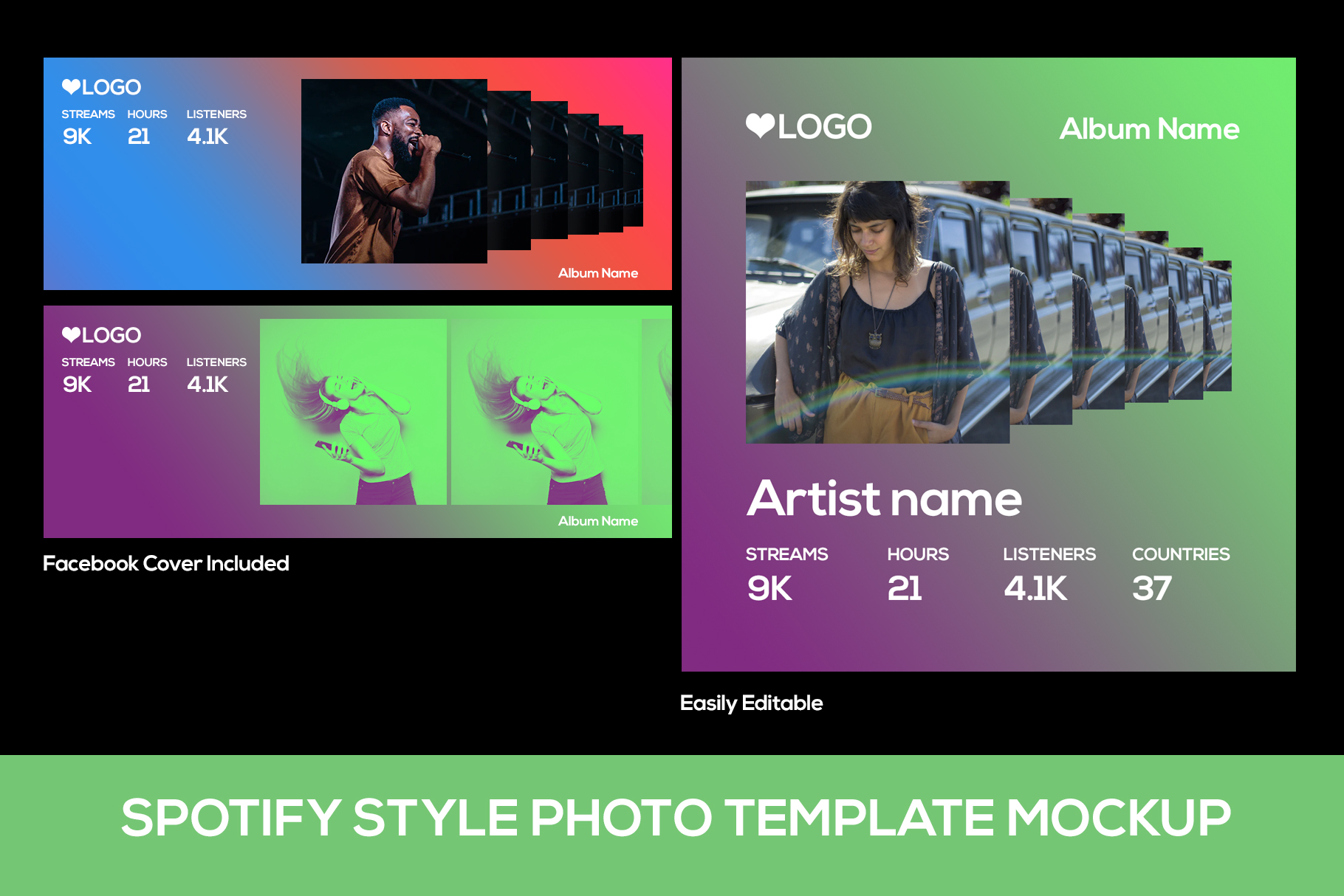 Spotify Style Photo Template example image 3
