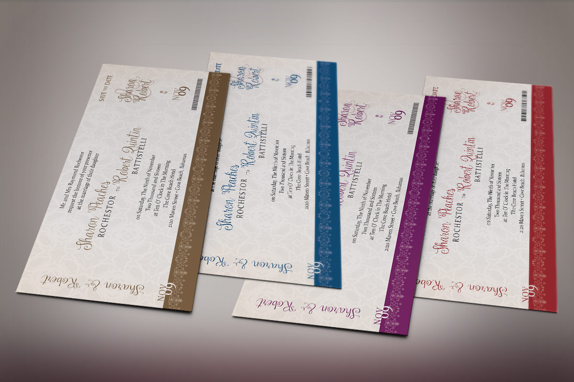 Vintage Boarding Pass Invitation Template example image 8