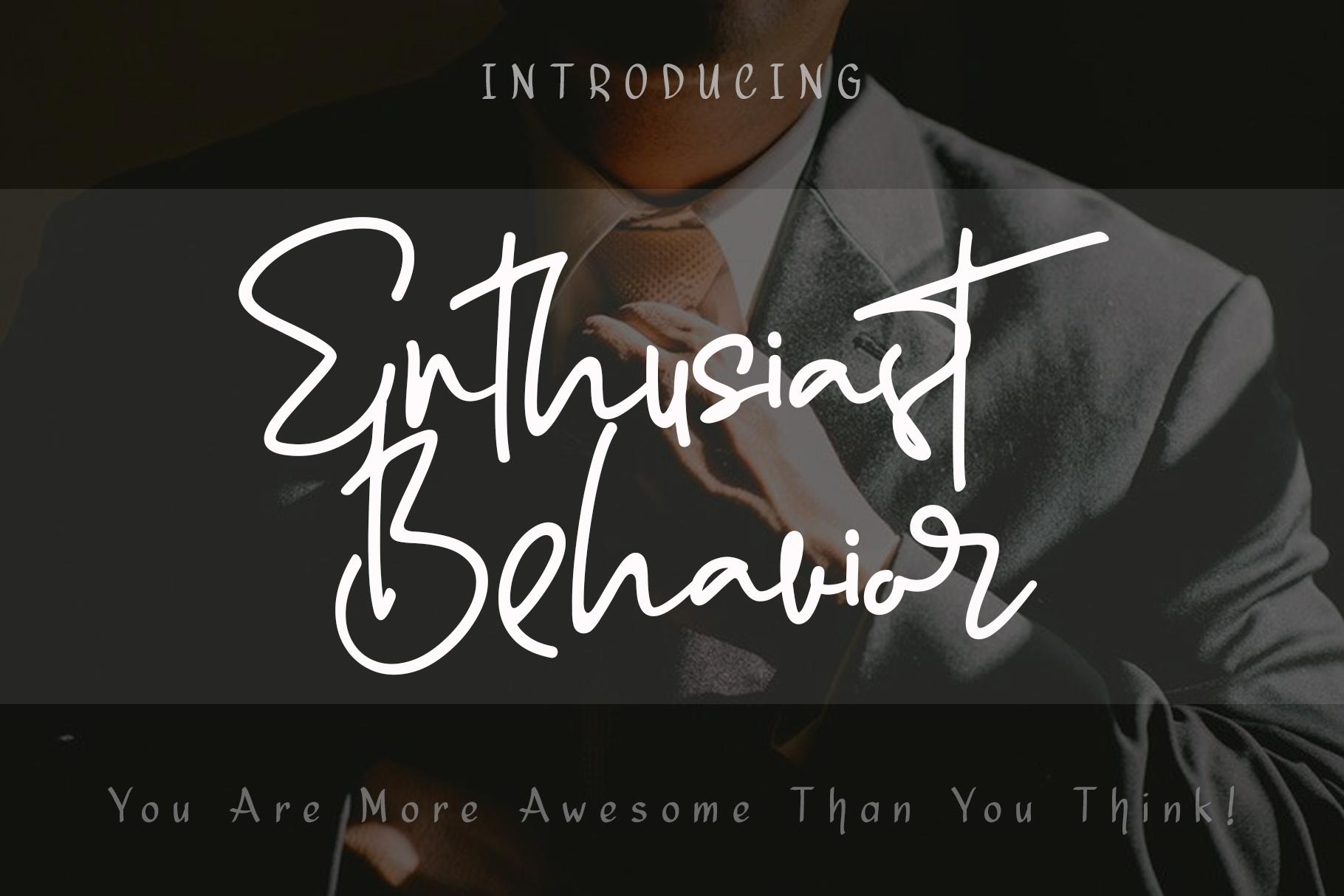 Enthusiast Behavior - Stylish Signature Font example image 1
