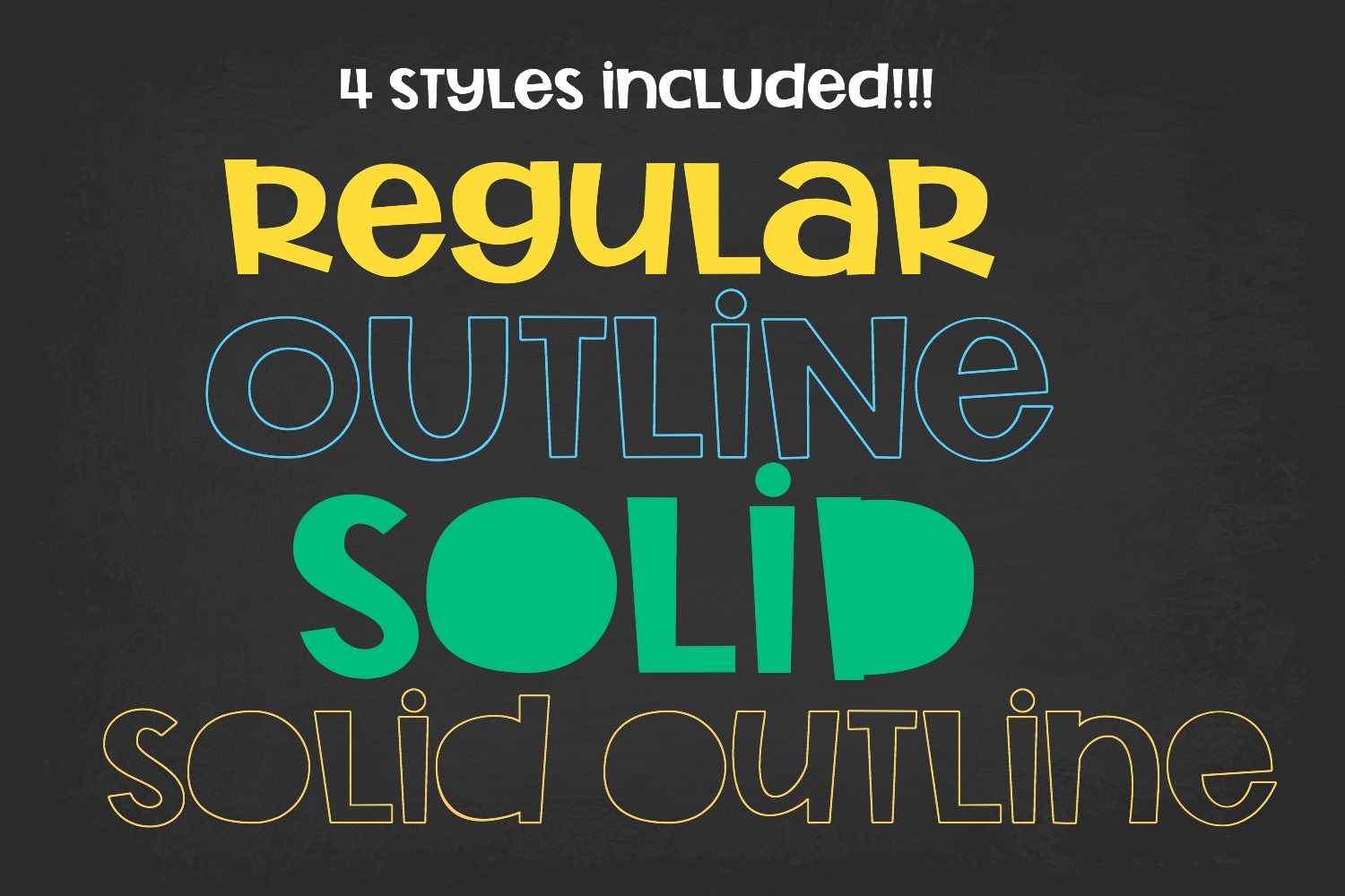 Rocket Science Layering Font example image 4