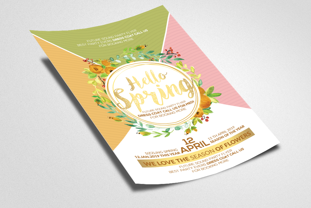 Hello Spring Arrival Flyer Template example image 2