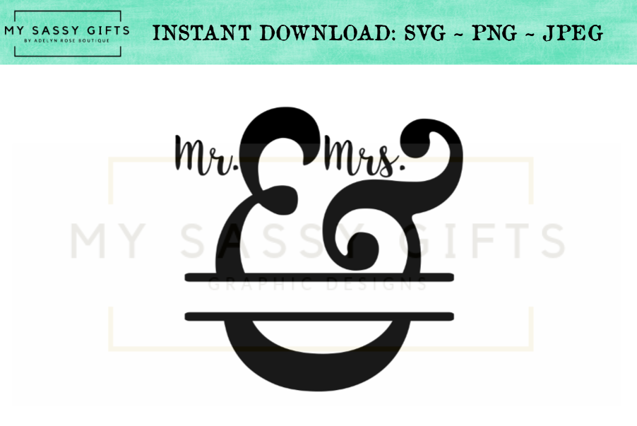 Mr. And Mrs. Wedding Anniversary SVG Sign Design example image 1