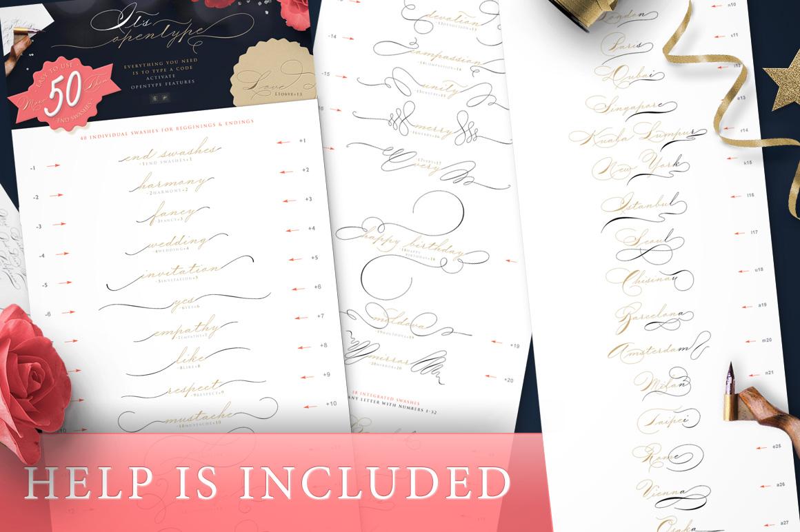 The Wedding Script & Invitation set example image 6