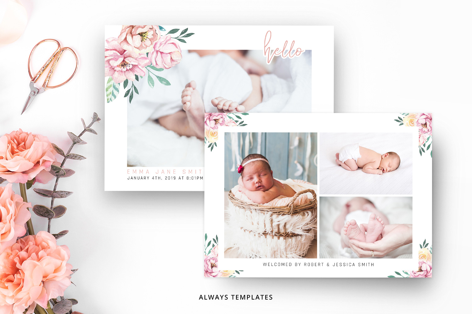 Birth Announcement Template BA011 example image 2