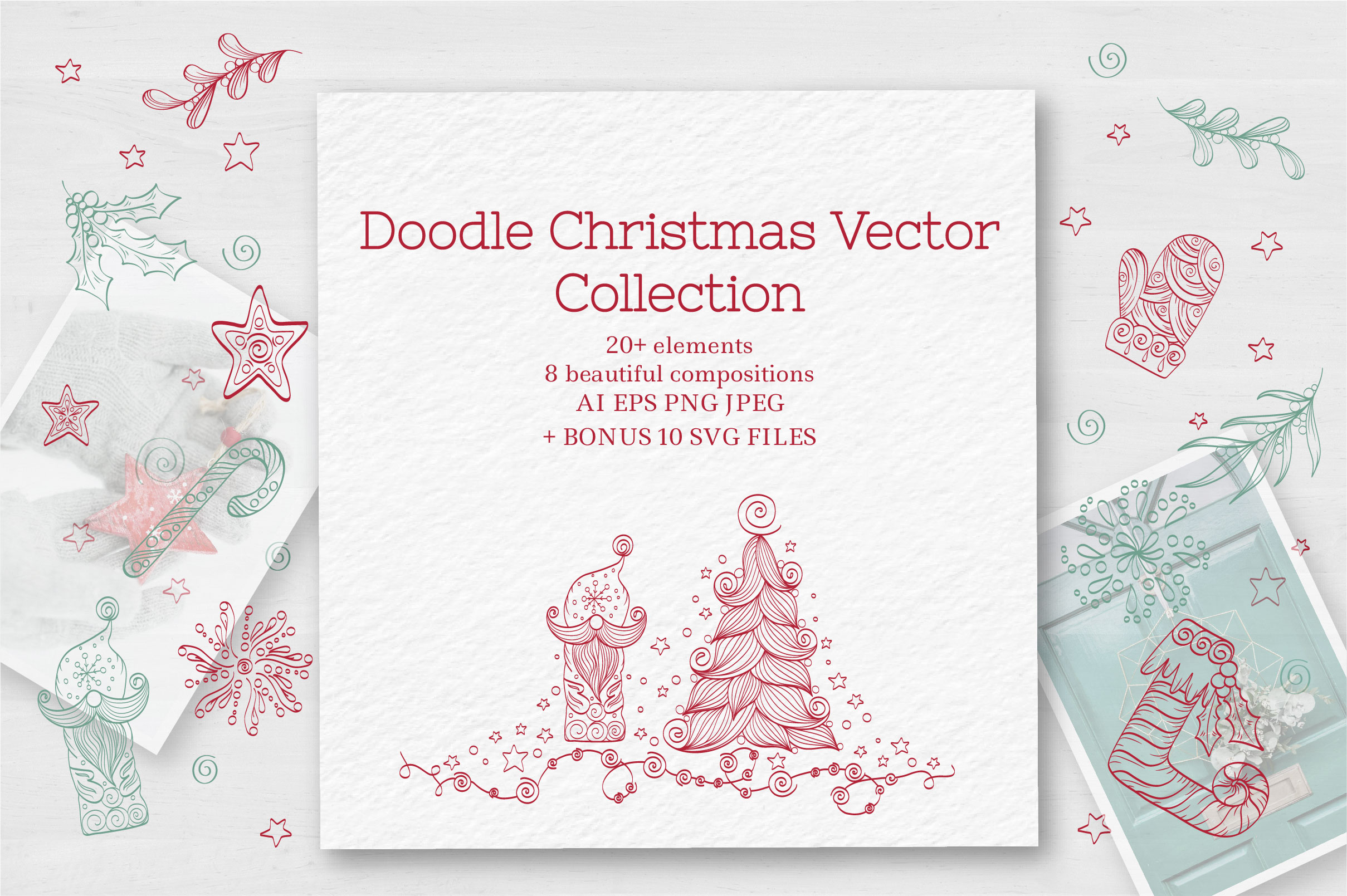 Doodle Christmas Vector Collection example image 1