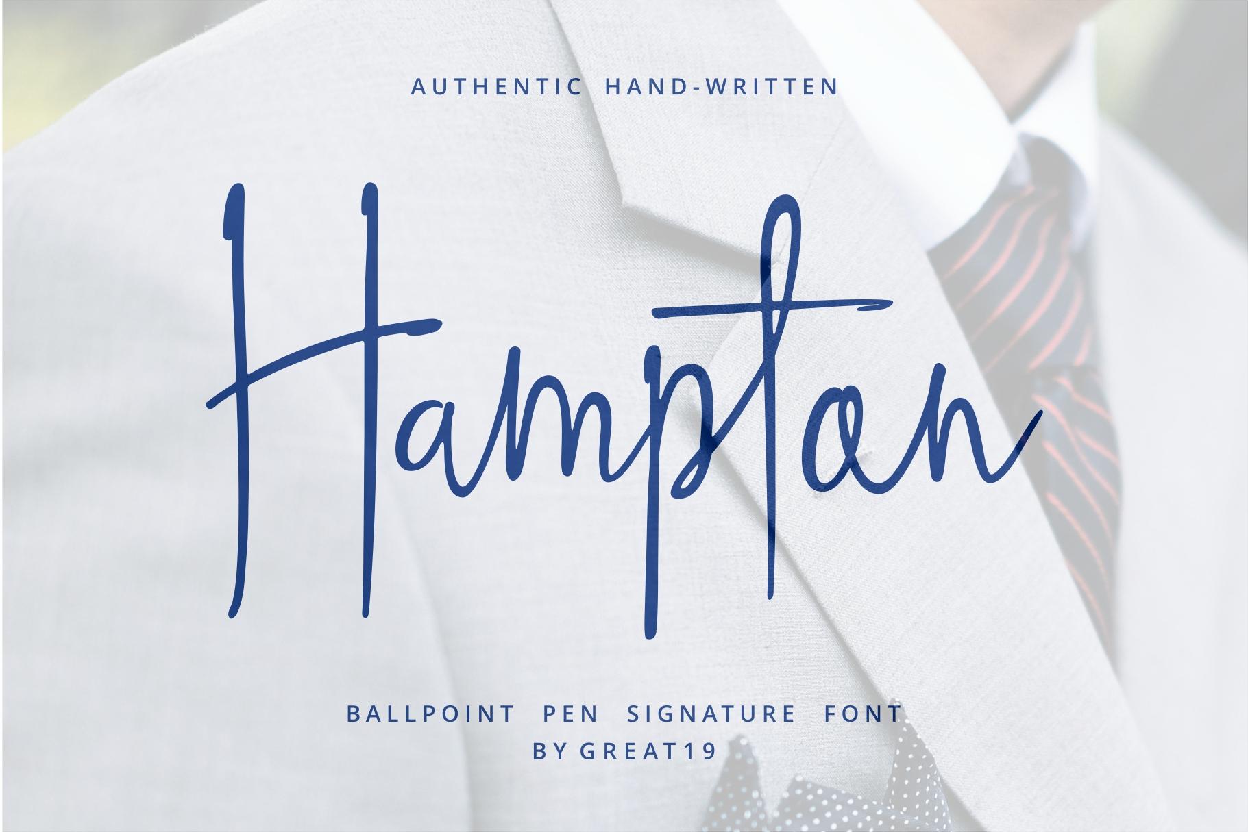 Hampton Signature Font example image 1