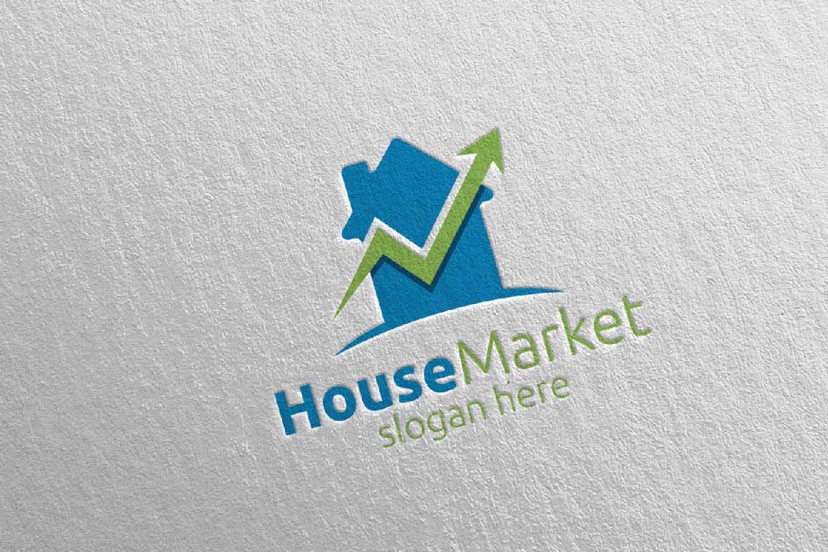 Real Estate Marketing Financial Advisor Logo Design 21 example image 4