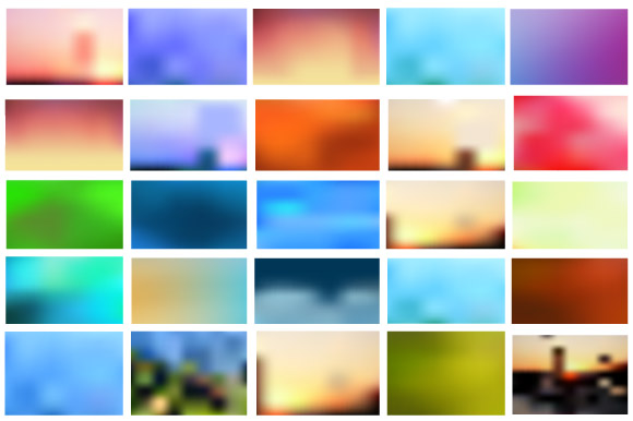 Vector set of city landscape example image 5