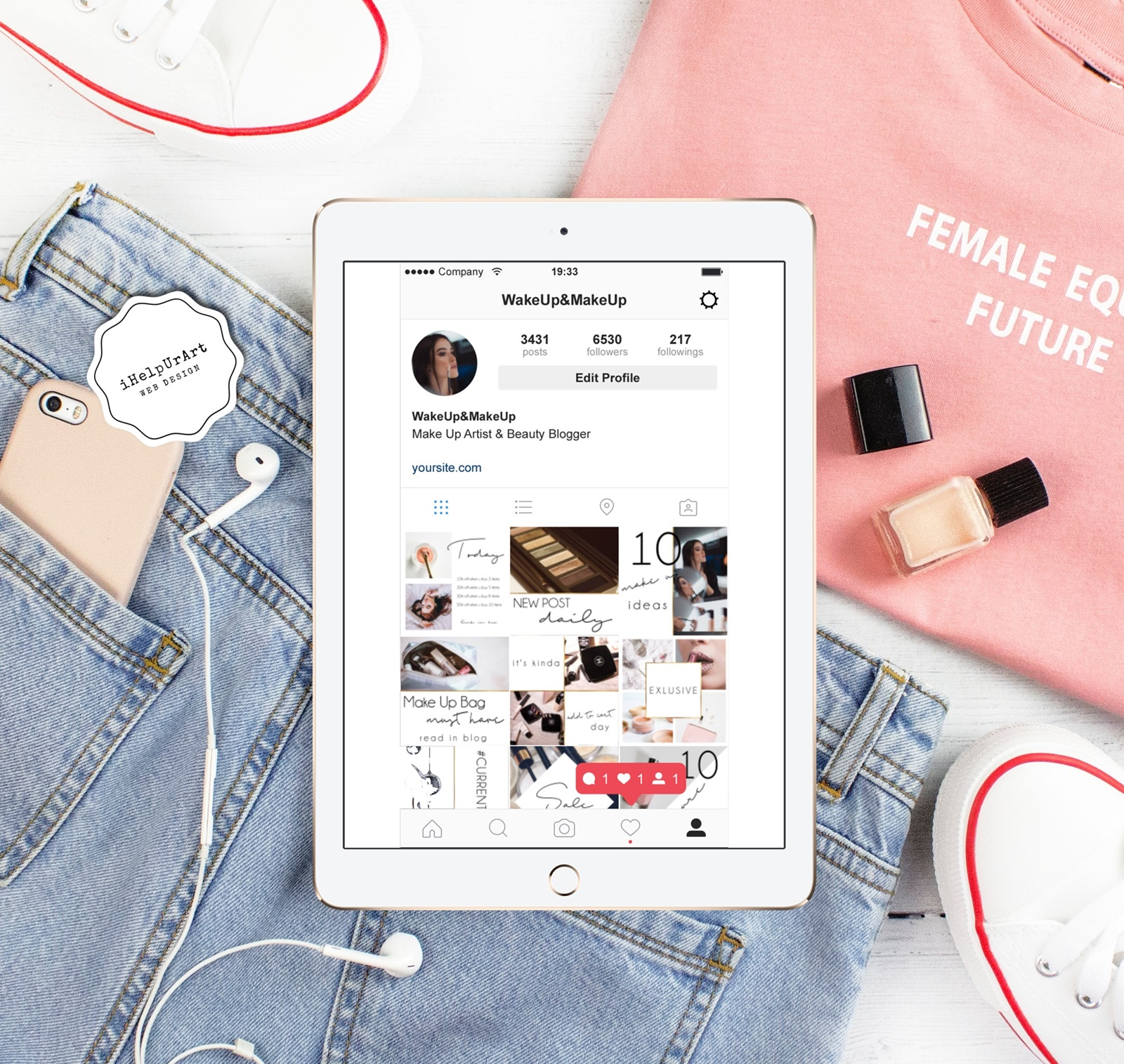 Beauty Blogger Instagram Posts Templates example image 4