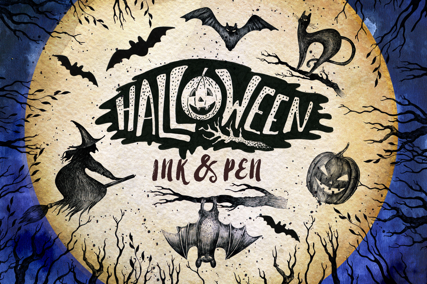 Halloween Ink & Pen Collection example image 1