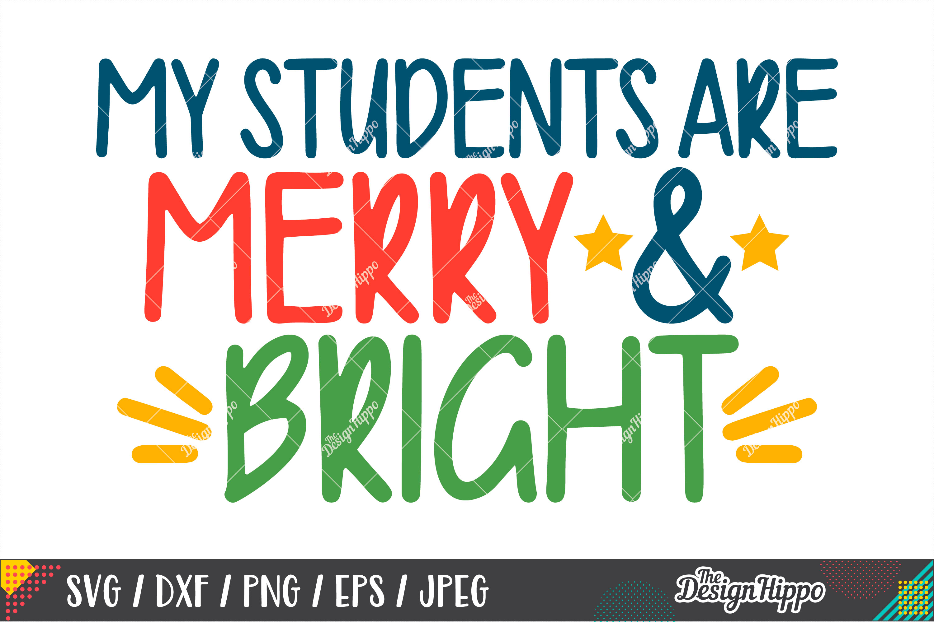 My Students Are Merry And Bright SVG, Teacher Christmas SVG example image 1