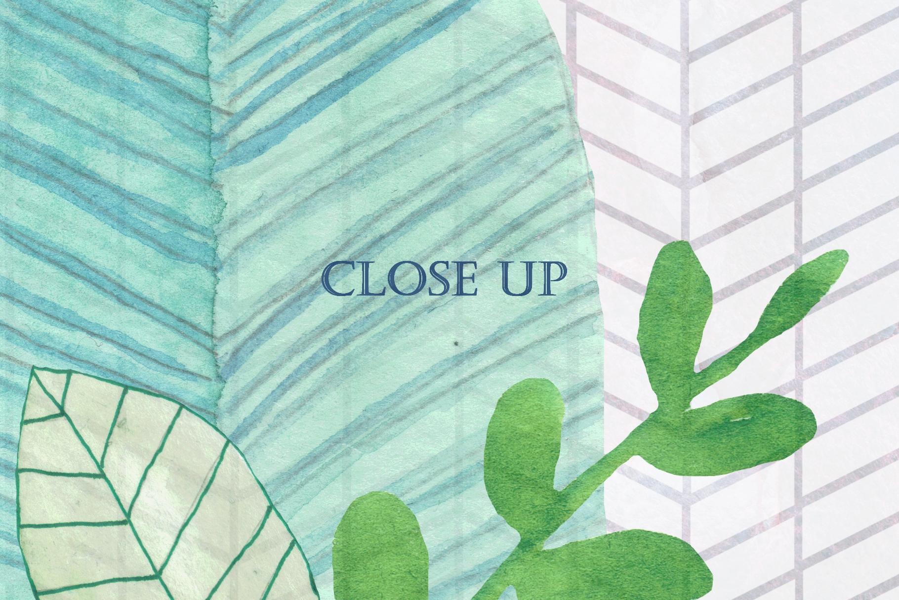 16 Handpainted Watercolor Leaves example image 2