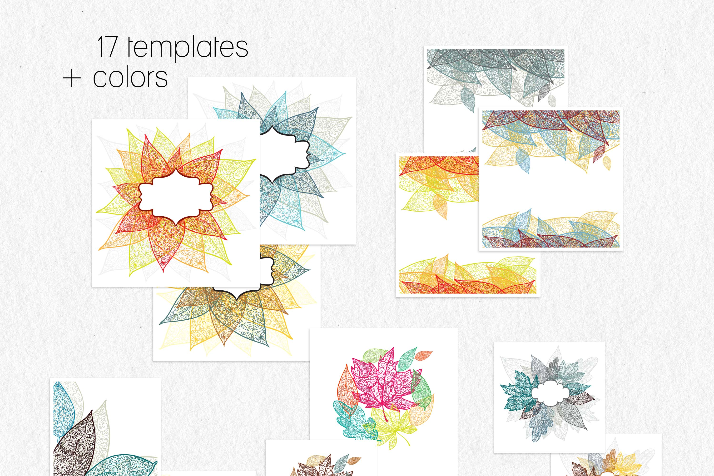 Leaves and pumpkins kit EPS example image 6