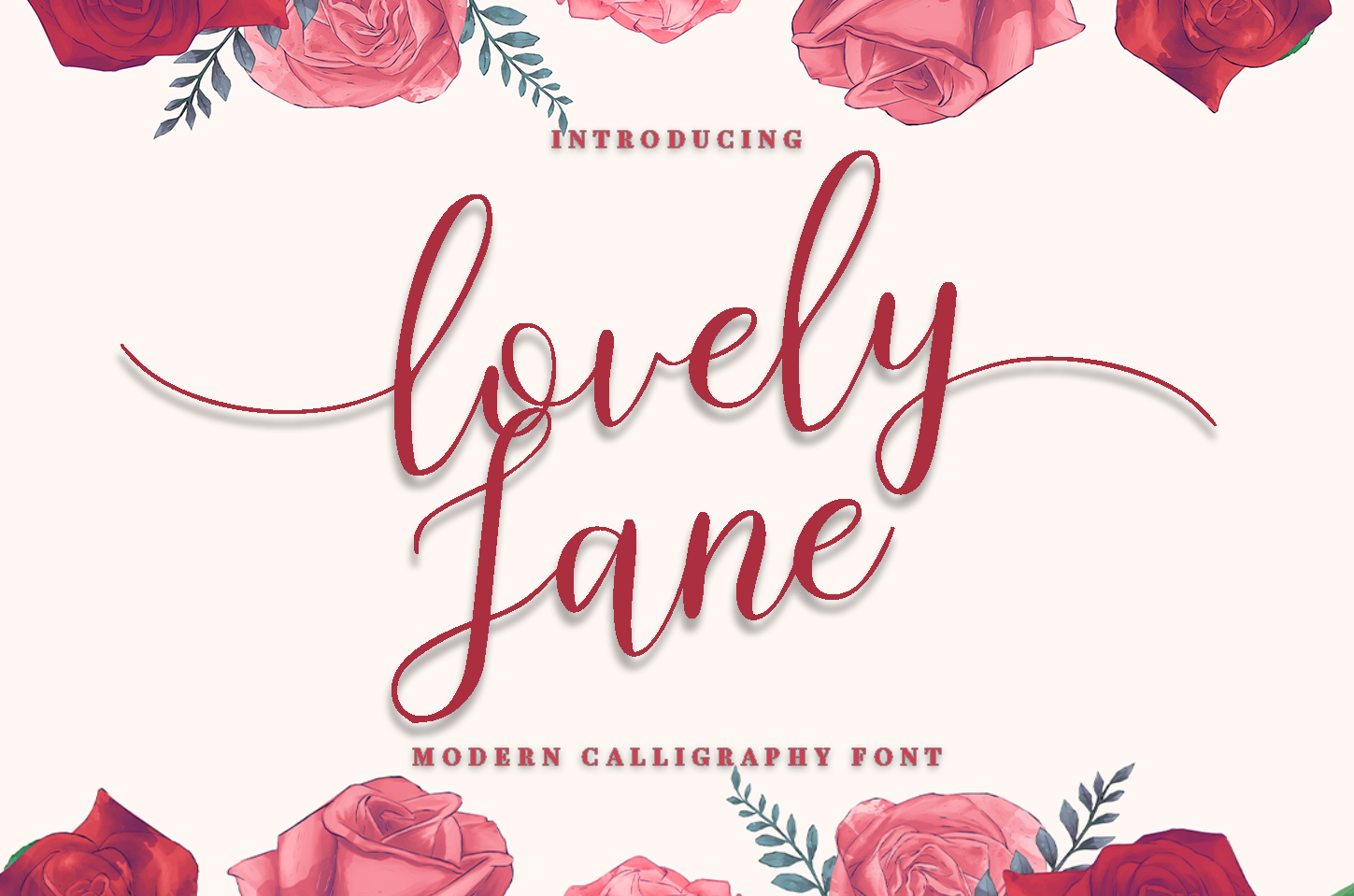 lovely Jane - Modern calligraphy font example image 1