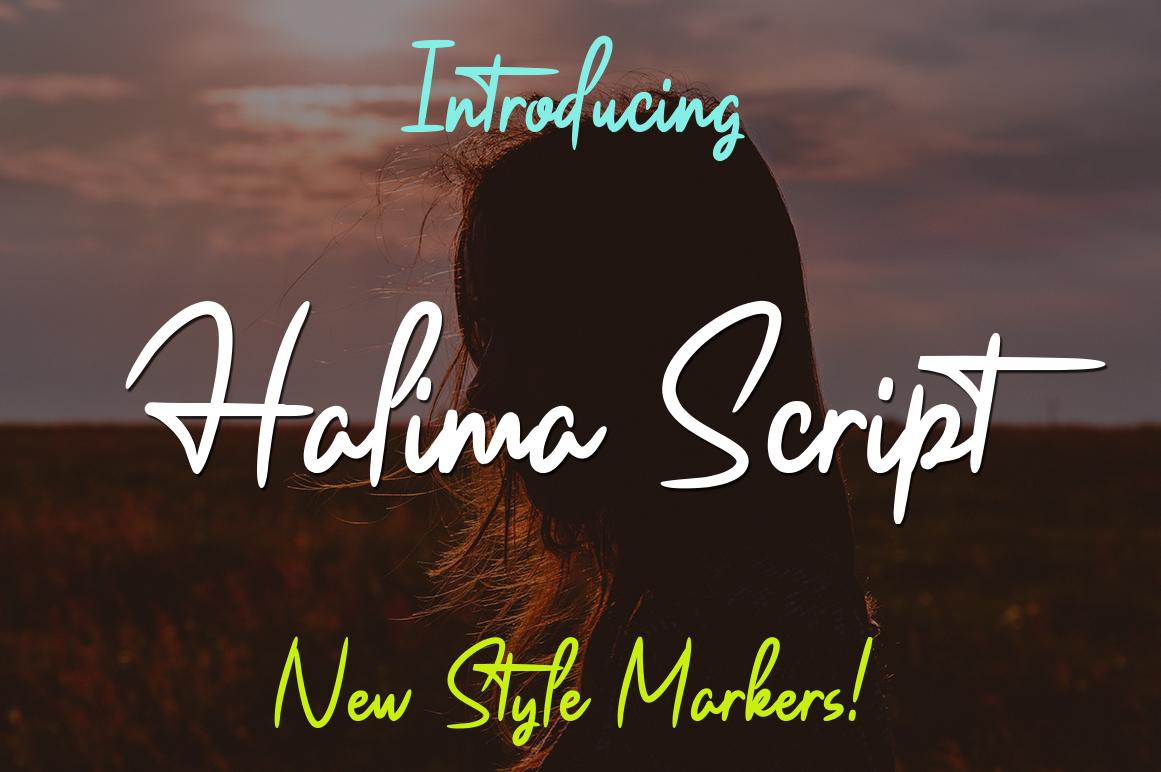 Halima Script example image 1