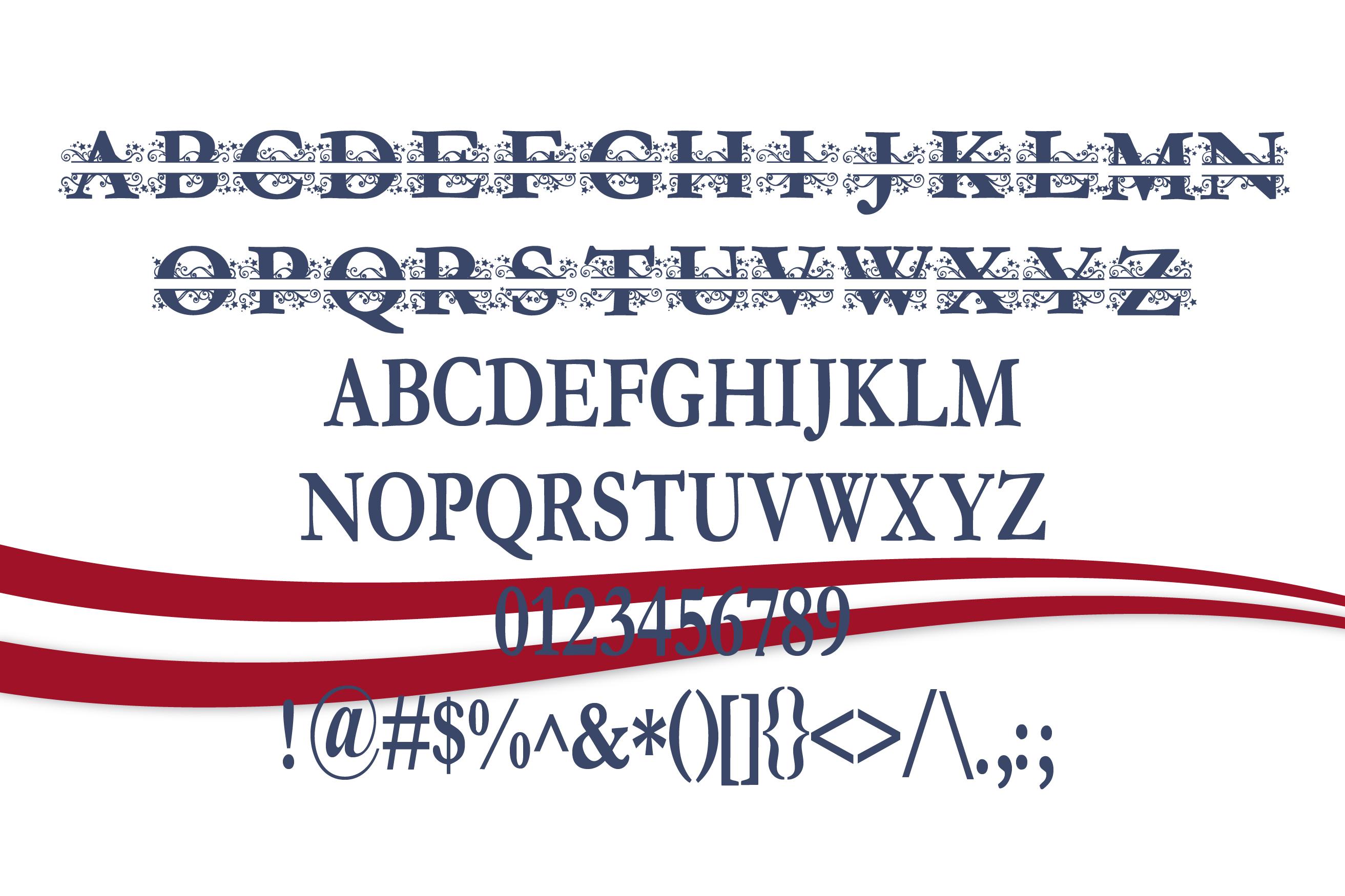 PN Stars & Swirls Monogram Banner Font example image 2