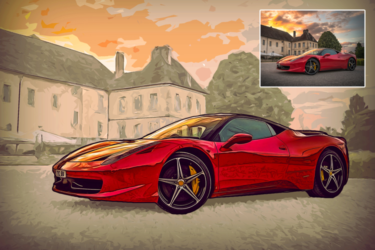 Grand Theft Art Photoshop Action example image 3