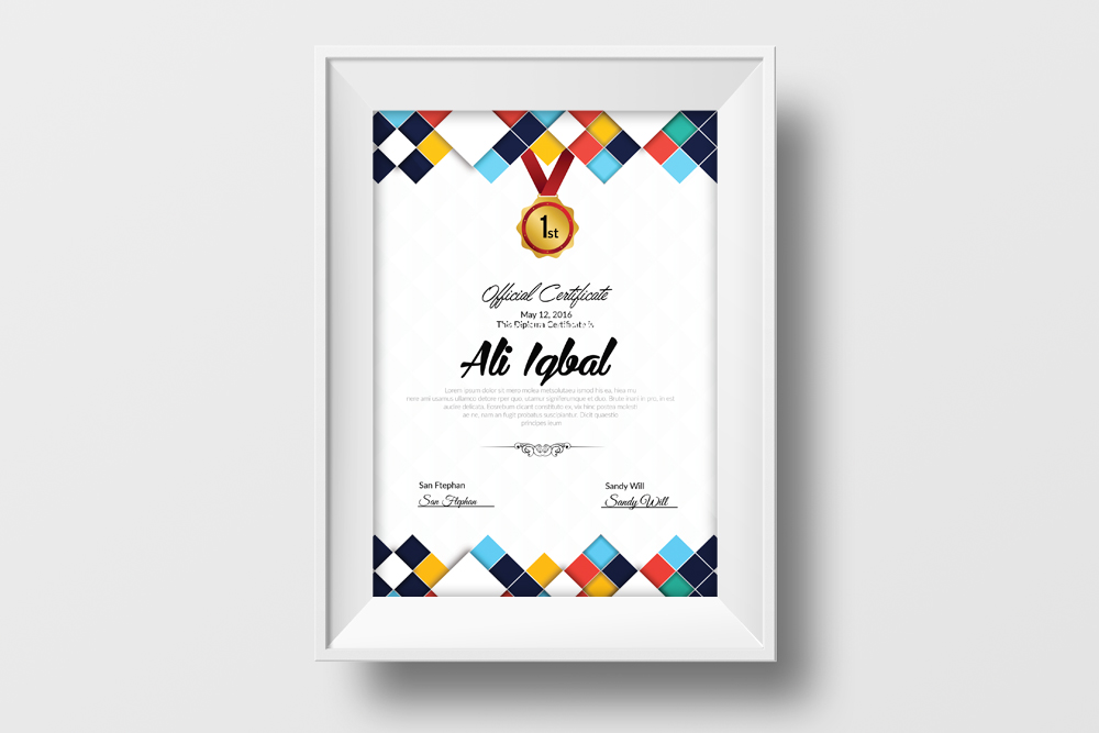 Clean Certificate Template example image 2