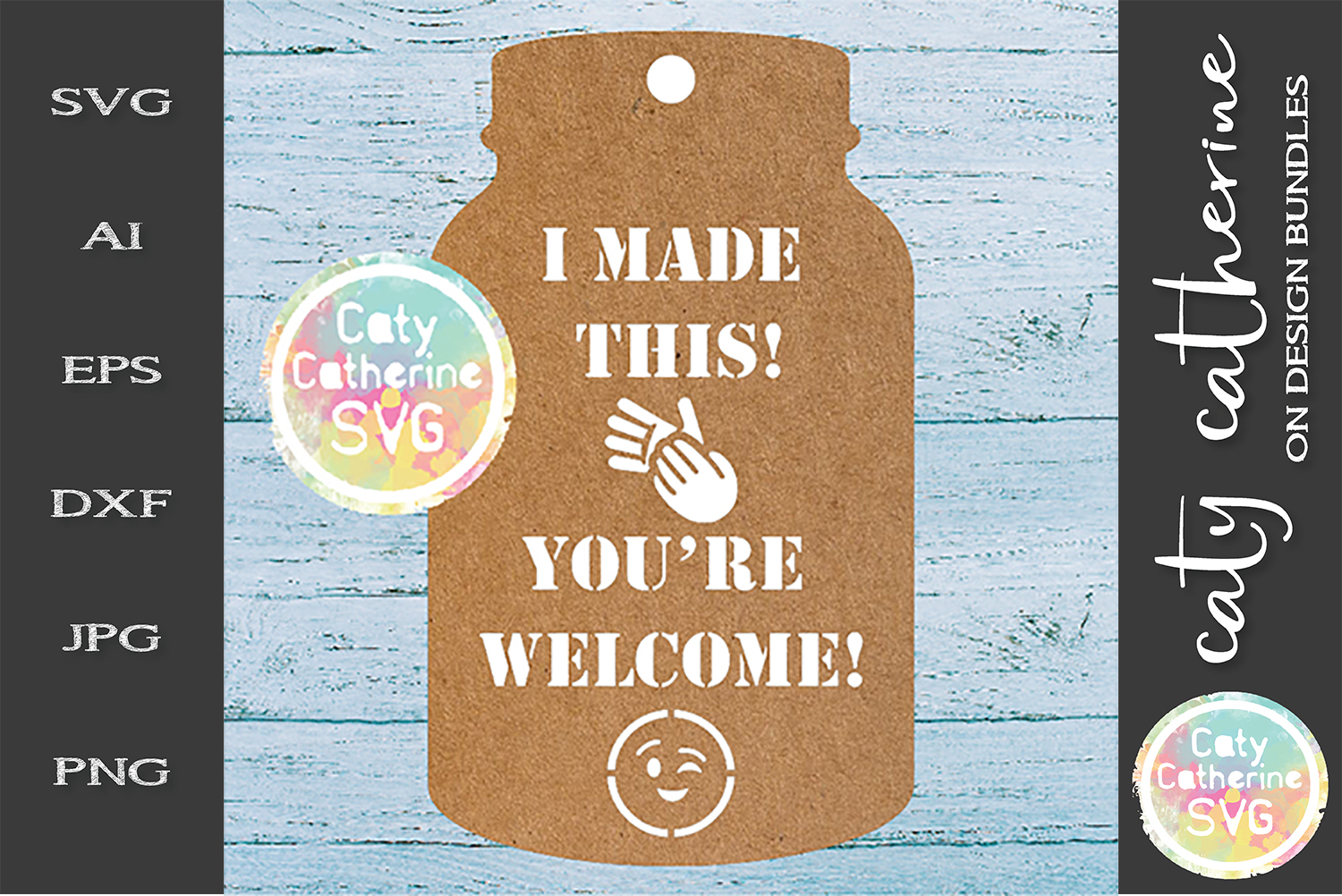 Home Made Baking Gift Tag SVG I Made This! You're Welcome! example image 1
