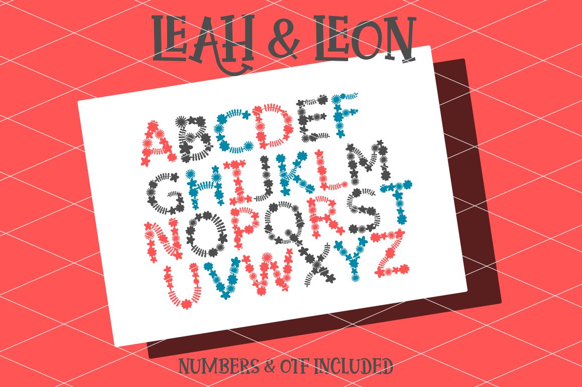 Leah & Leon (Font / SVG)  example image 1