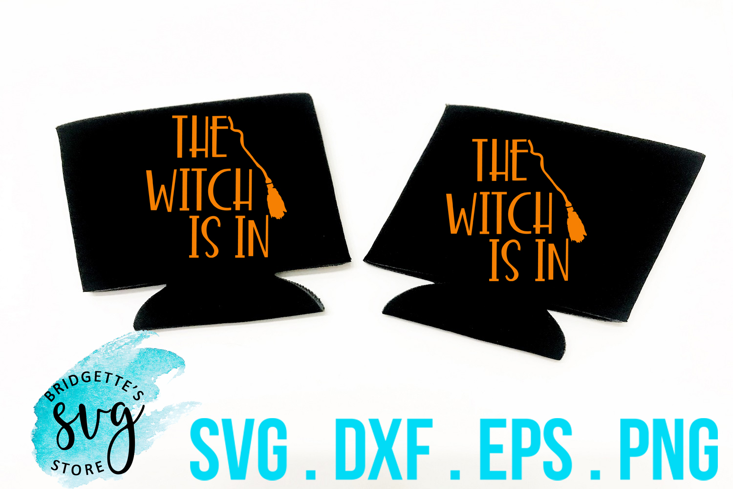 The Witch Is In SVG, DXF, PNG, EPS Cut File example image 1