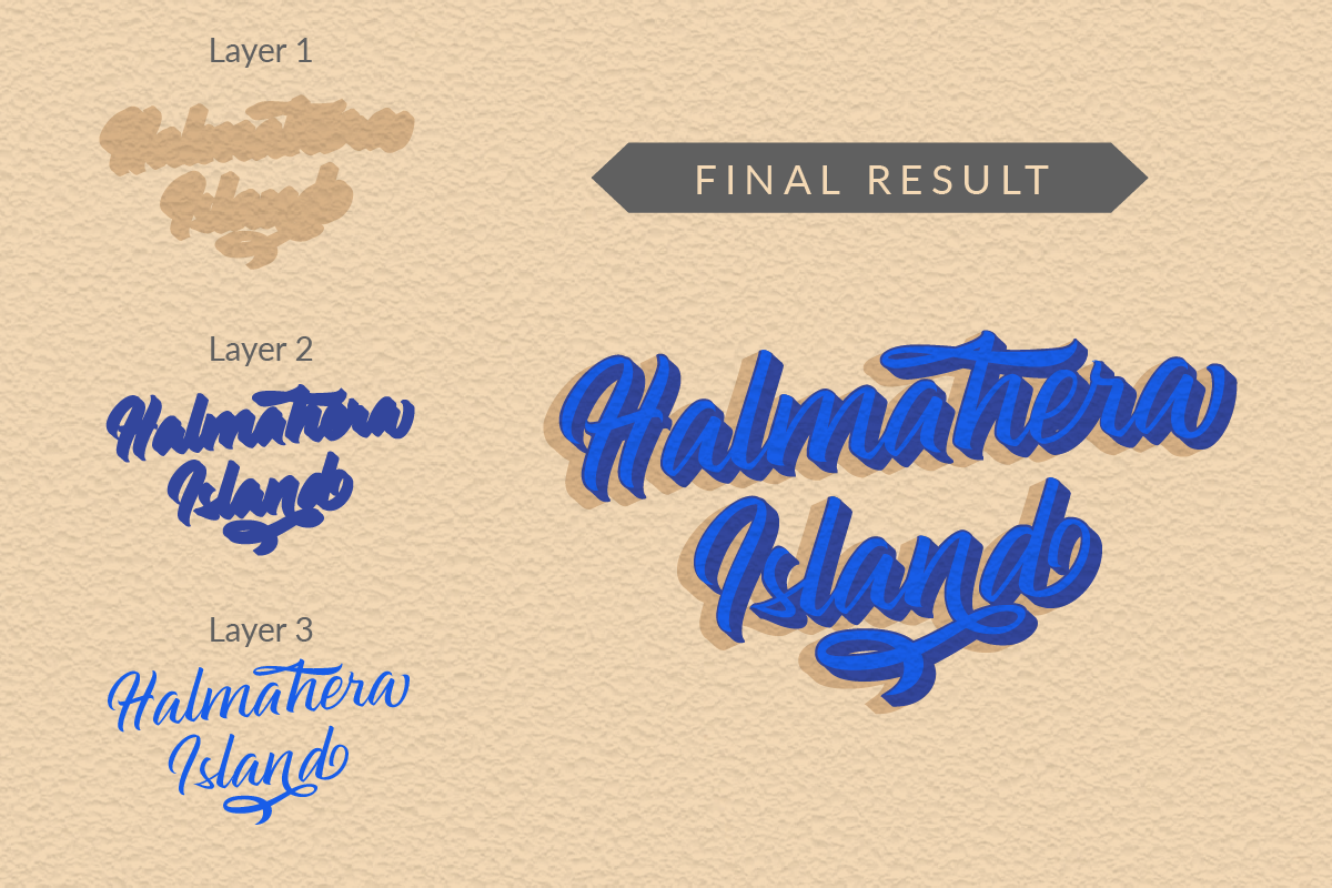 Halmahera Island - Layered Font example image 2