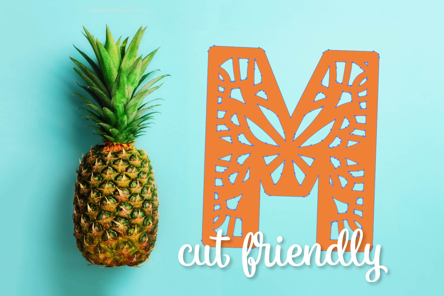 Mandala - A Fun Patterned Font - Perfect for Monograms example image 8