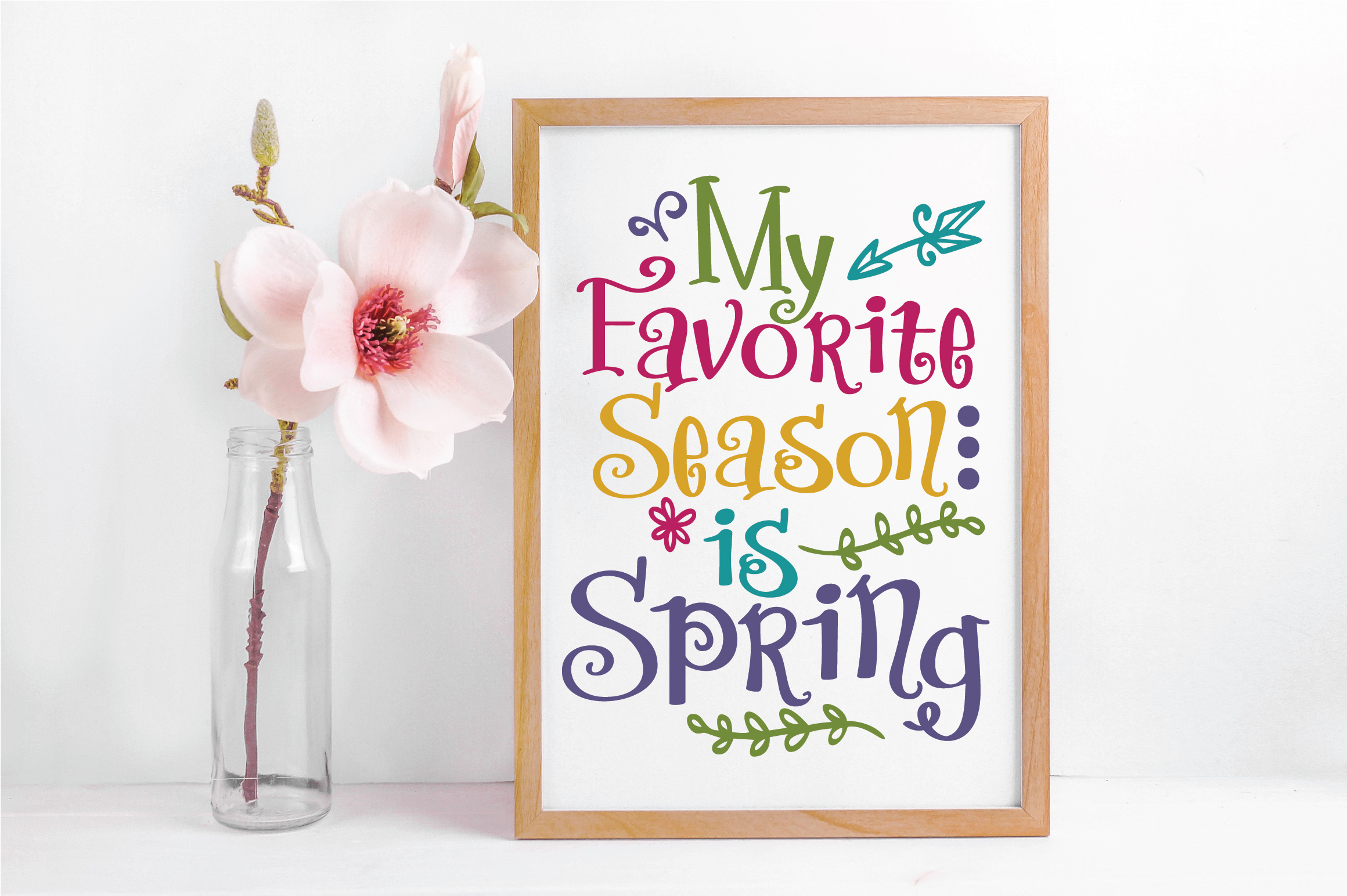 My Favorite Season is Spring SVG Cut File - Spring SVG DXF example image 4