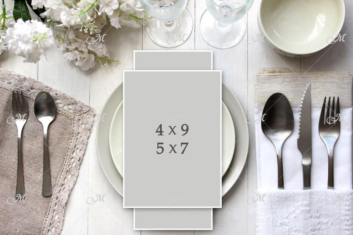 Light table Card Mockup. PSD smart example image 2