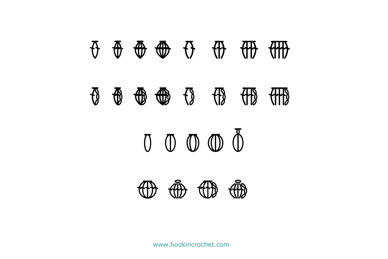 HookinCrochet Symbols 2 Font Software example image 6