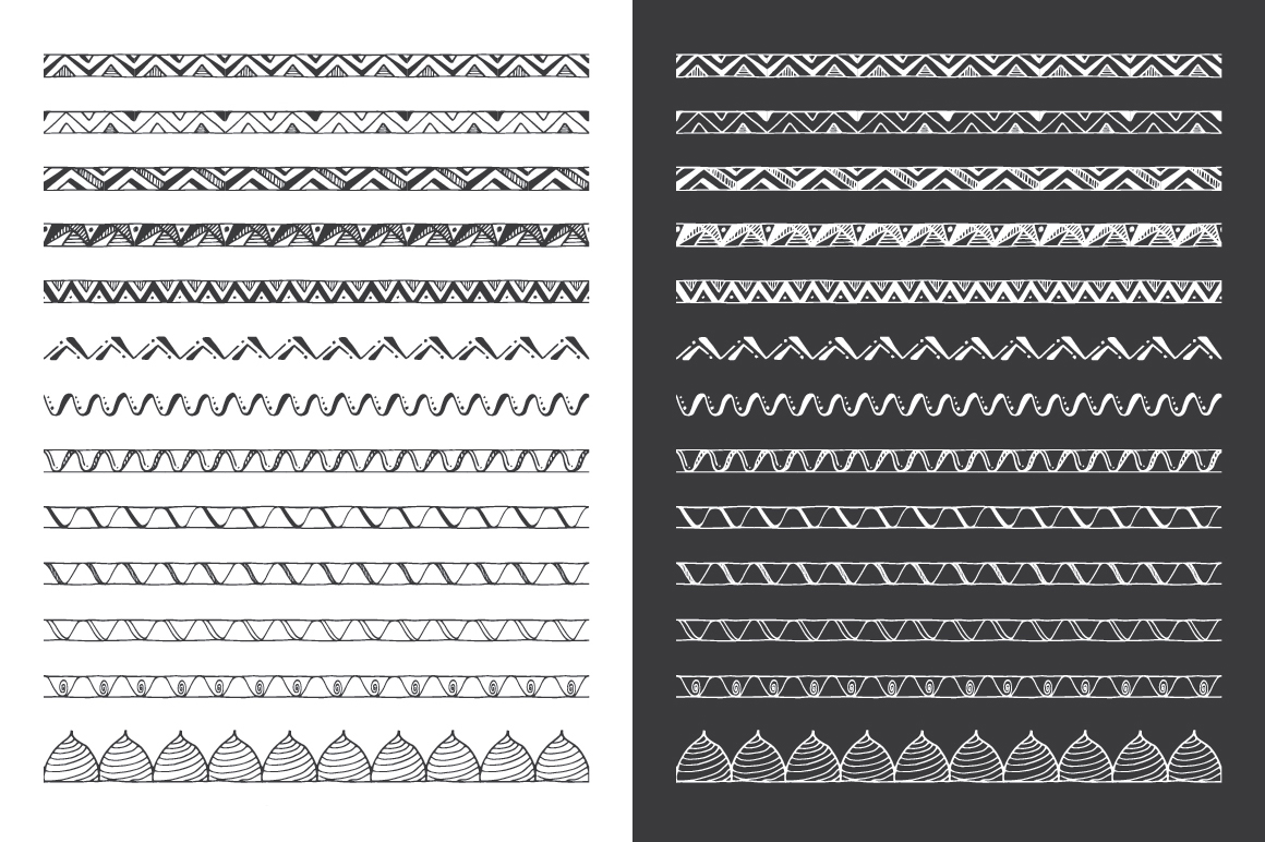 Hand Drawn Pattern Brushes Vol. 03 example image 2