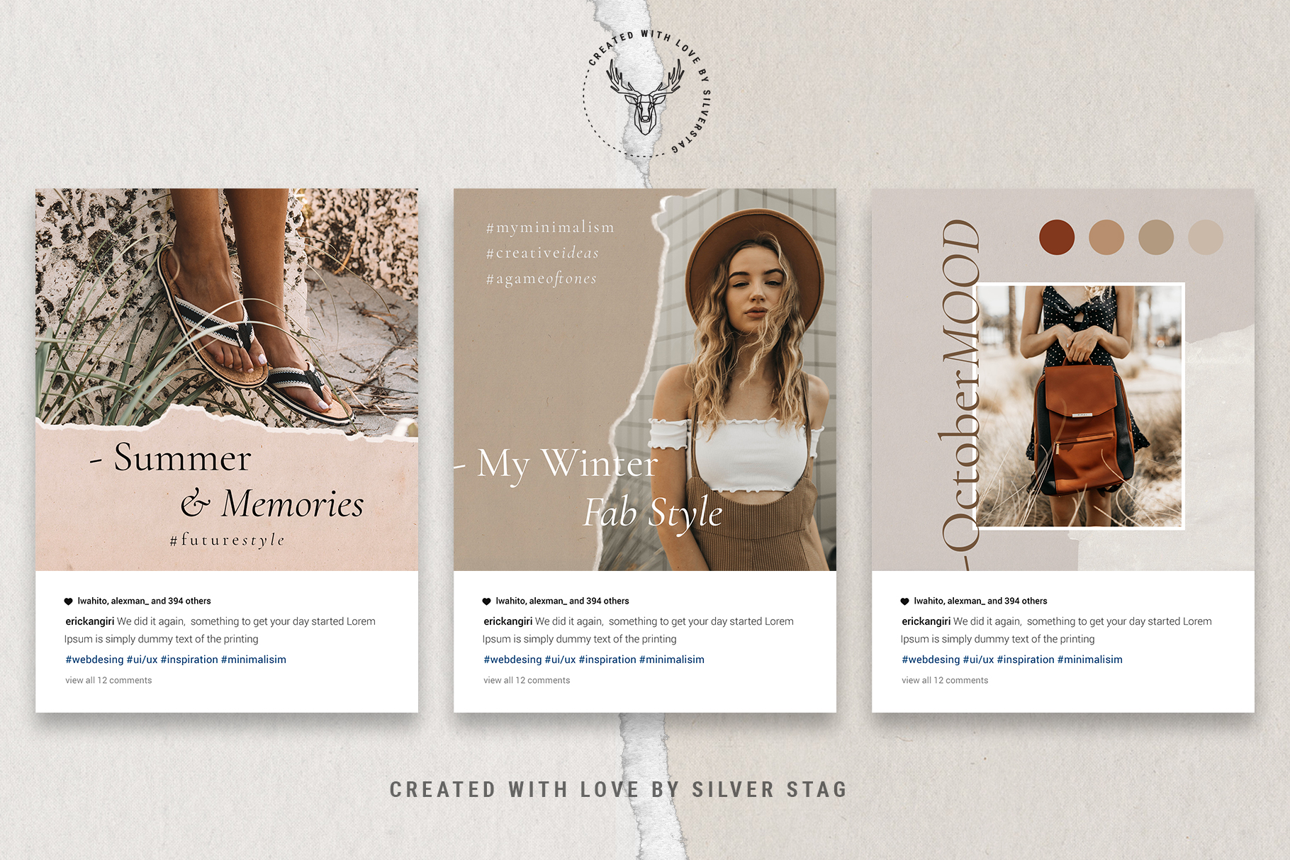 #InstaBabe Instagram Post Templates example image 14