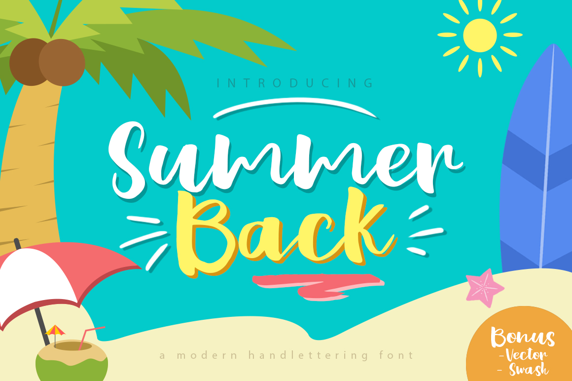 Summer Back Script example image 1
