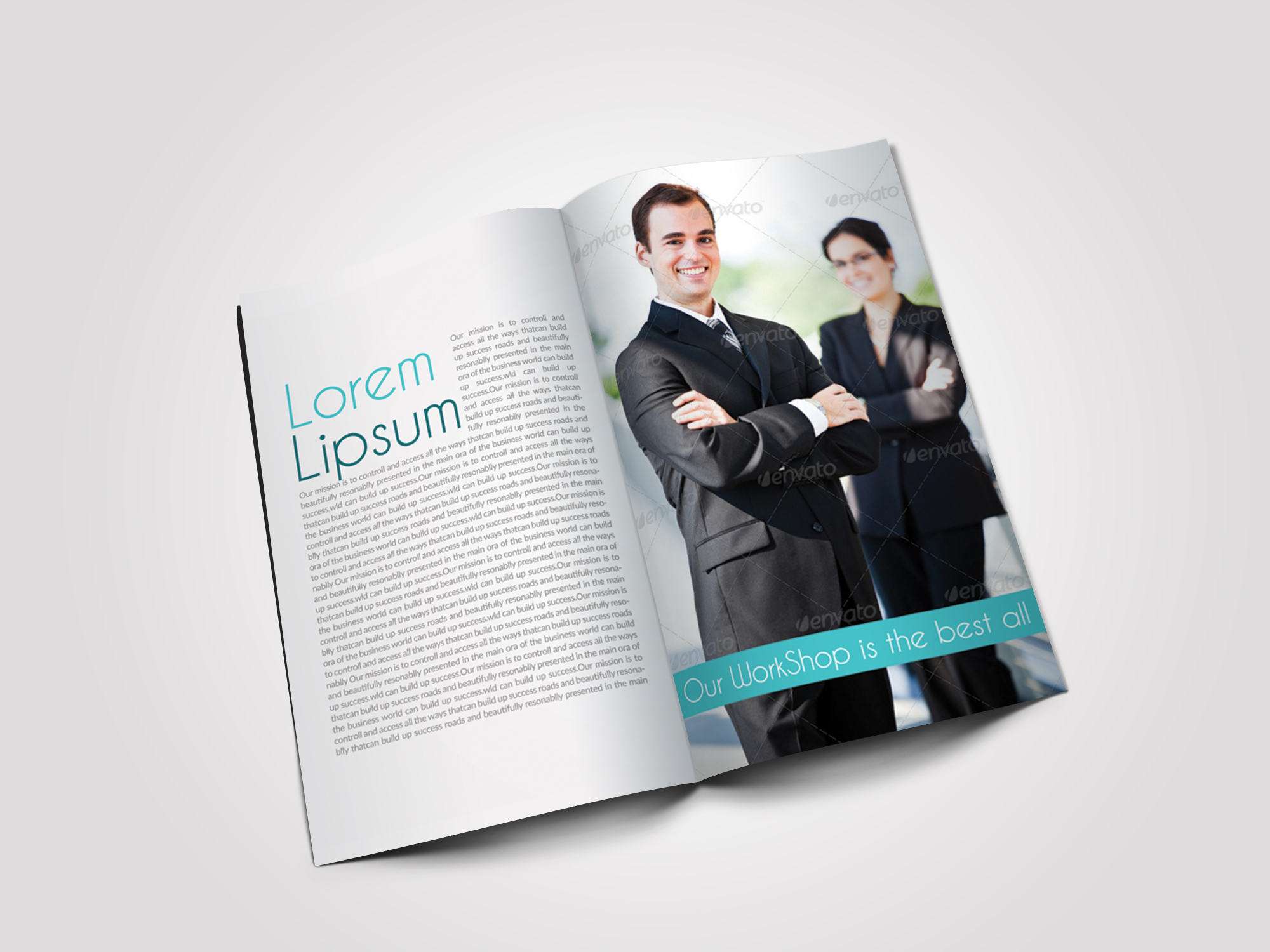 12 Pages Professional Business Bifold Brochure example image 6