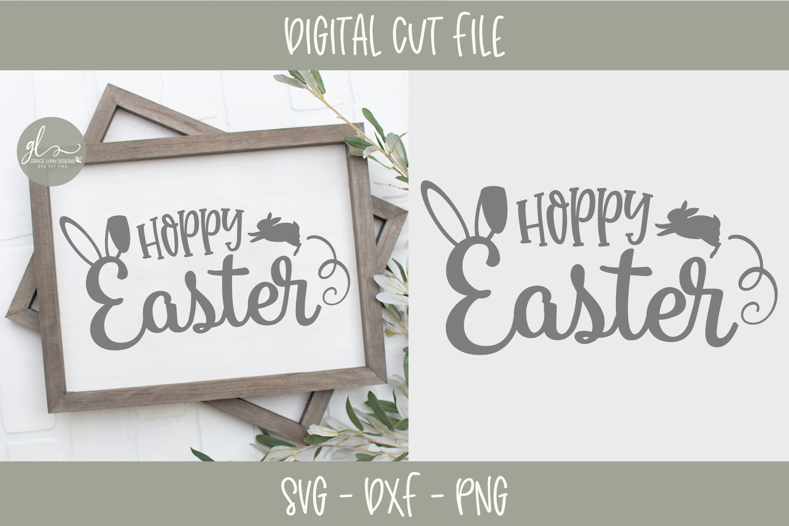 Easter SVG Bundle - 12 Easter Designs - SVG, DXF & PNG example image 6