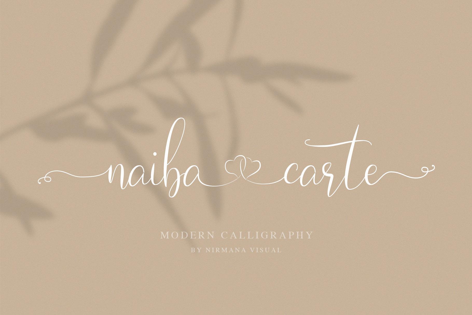 Naibacarte - Lovely Font example image 18