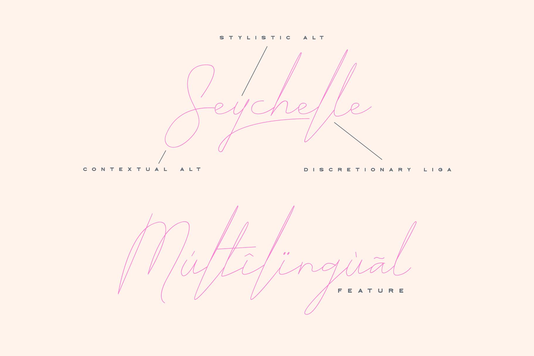 ARK Seychelle - Exotic Monoline Font example image 7
