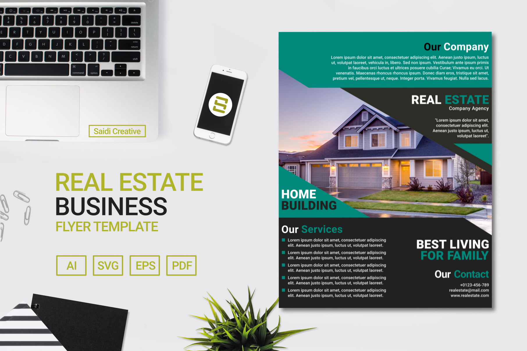 Real Estate Business Flyer Template Design Us Flyer Size