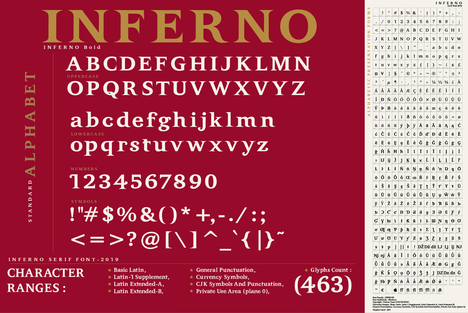 INFERNO Serif font example image 3