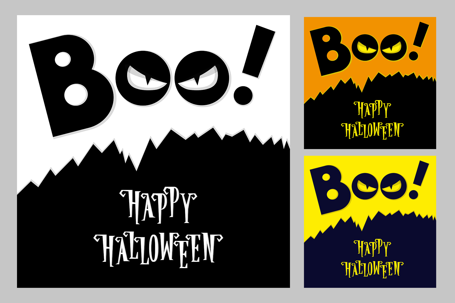 Set of 28 Halloween banner different color and character example image 7