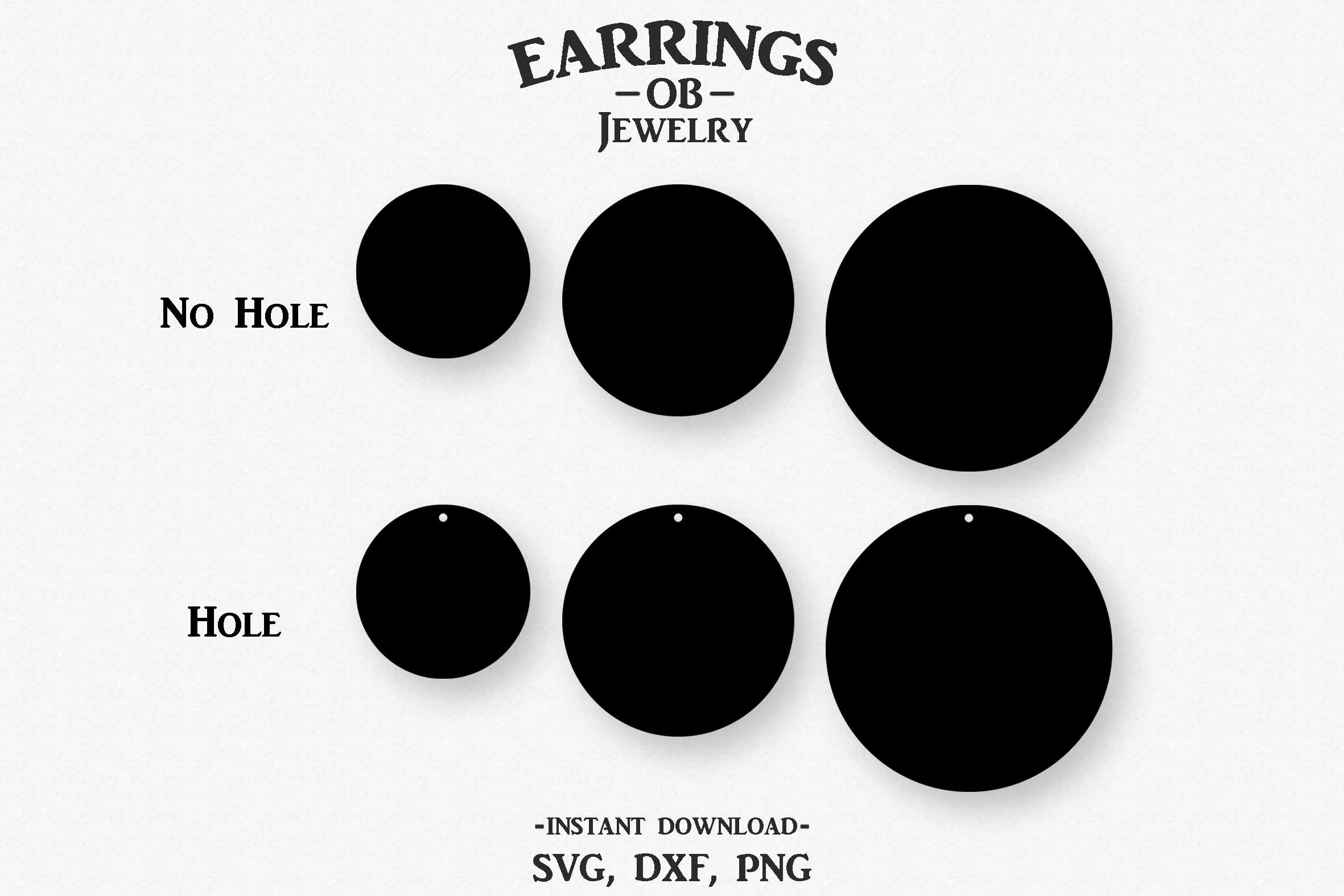 Circle Earring Svg, Teardrop, Stacked, Cut File example image 2