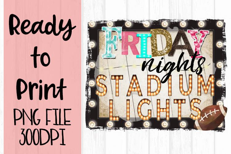Friday Nights Stadium Lights Frame Ready to Print example image 1